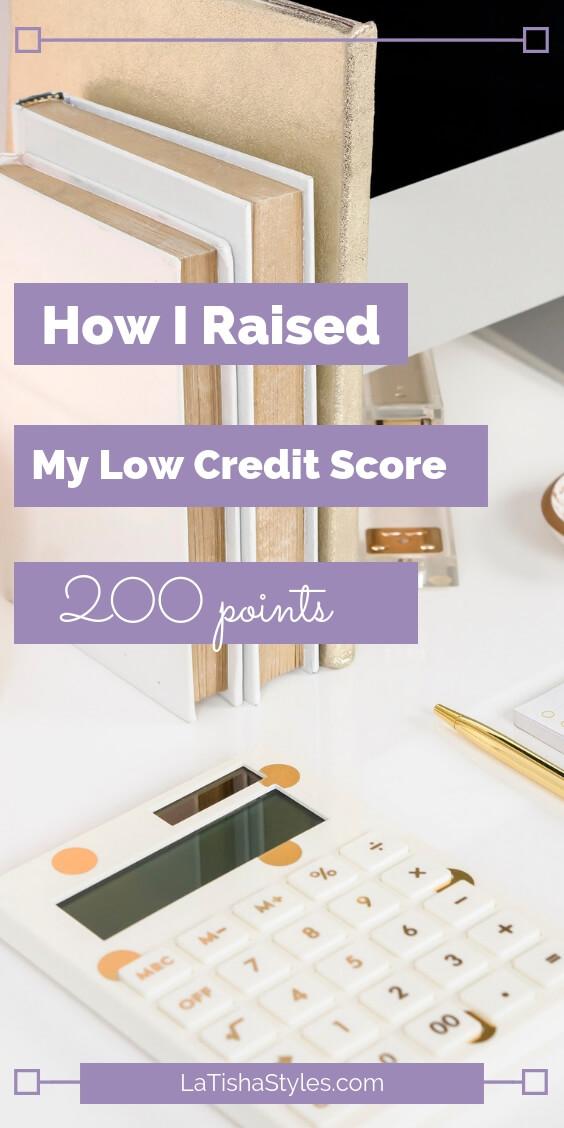 raised low credit score