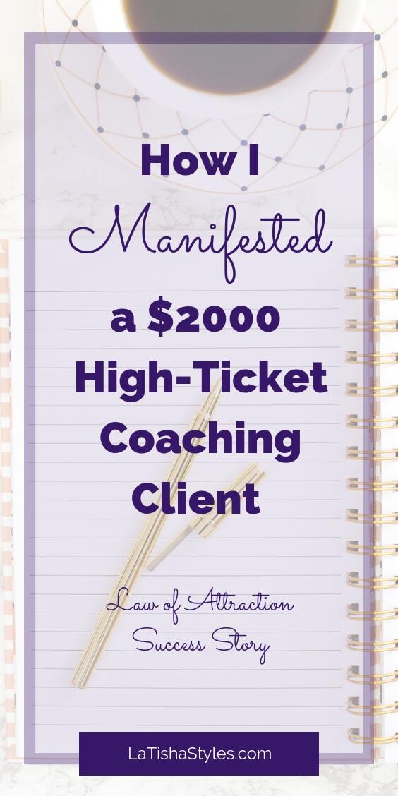 manifest coaching clients