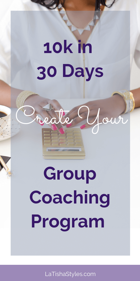 10k in 30Days_Create a Group Coaching Program - Pinterest