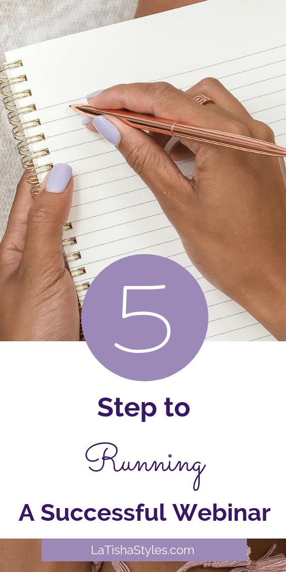5 Steps to Running a Successful Webinar - pinterest